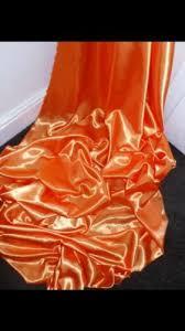 stoffe 1 mtr orange satin lining fabric 45 wide bastel