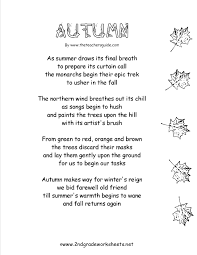 Poems About Halloween by Autumn Theme Worksheets And Printouts