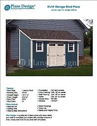 8 x 14 deluxe back yard storage shed project plans lean to