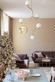 elegantes wohnzimmer in rosa gold und bild kaufen