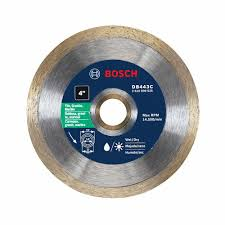 Superior Tile Cutter No 1 by Bosch 4 In Premium Continuous Rim Diamond Blade For Small