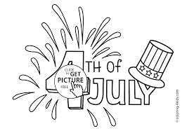 July 4 Coloring Pages USA Independence Day For Kids Printable Free