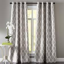 Adventures In Decorating Curtains by Moorish Tile Gray Grommet Curtain Moorish Window And Patterns