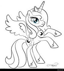 My Little Pony Coloring Pages Princess Celestia In A Dress Ba For Kids Google Search Free