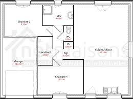 maison plain pied 2 chambres plan maison plain pied 1 chambre