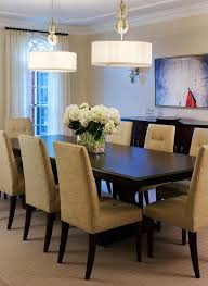 Transitional Dining Room With Chandelier Crown Molding Carpet