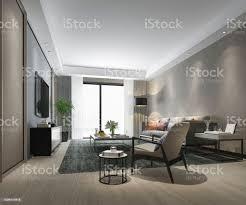 3d rendering luxus wohnzimmer mit holzboden und schrank stockfoto und mehr bilder architektur