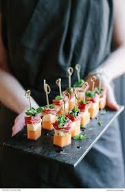 m fr canapes melon blue cheese prosciutto basil canapés blue cheese cheese