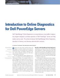 100 Sridhar Murthy Introduction To Online Diagnostics For Dell PowerEdge