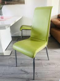 4 hochwertige stühle esszimmer in grün effezeta