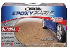 Rust Oleum Epoxyshield Garage Floor Coating Instructions by Rust Oleum 261846 50 Voc 2 5 Car Epoxy Shield Garage Floor Kit