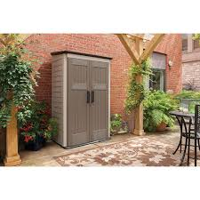 Metal Storage Shed Doors by Amazon Com Rubbermaid Plastic Large Vertical Outdoor Storage