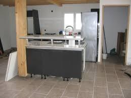 ilot cuisine solde meuble ilot cuisine lot central avec table appareils et plan de