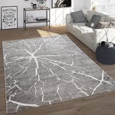 teppich wohnzimmer vintage modernes abstraktes muster kurzflor in grau grösse 140x200 cm