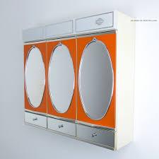 spiegelschrank badspiegel 70er orange spiegel vintage mirror