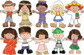 Children Of The World Dress Up Digital Clip Art Set Personal