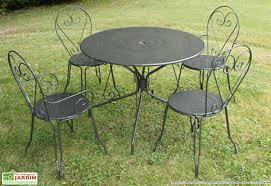 table jardin ronde metal table de jardin carrefour maisondours