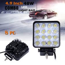 8 X 48W CREE Square LED Work Light Off Road Flood Lights Truck White ... 4x 4inch Led Lights Pods Reverse Driving Work Lamp Flood Truck Jeep Lighting Eaging 12 Volt Ebay Dicn 1 Pair 5in 45w Led Floodlights For Offroad China Side Spot Light 5000 Lumen 4d Pod Combo Lights Fog Atv Offroad 3 X 4 Race Beam Kc Hilites 2 Cseries C2 Backup System 519 20 468w Bar Quad Row Offroad Utv Free Shipping 10w Cree Work Light Floodlight 200w Spotlight Outdoor Landscape Sucool 2pcs One Pack Inch Square 48w Led Work Light Off Road Amazoncom Ledkingdomus 4x 27w Pod