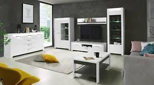 details zu wohnzimmer komplett brugia vitrine sideboard lowboard couchtisch wandregal