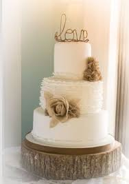 Country Wedding Cake With Love Topper