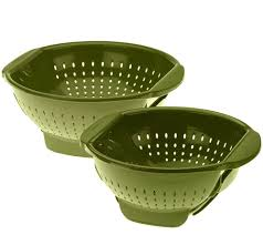 Oxo Over The Sink Colander by Farberware 3qt And 5qt Trap Door Colanders Page 1 U2014 Qvc Com