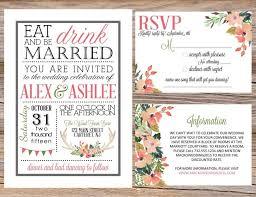 Watercolor Antler State Fair County Rustic Wedding Invitation Suite DIY Printable RSVP Eat Drink Be Married Floral Deer Country Chic