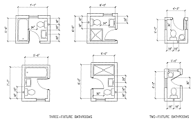 Bathroom Design Cad Blocks by Bath U0026 Shower Interesting House Plan Handicap Bathroom Dimensions
