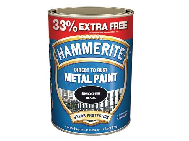 Hammerite Metal Paint - Smooth Black