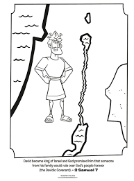 King David Coloring Page
