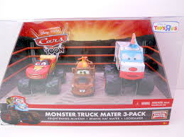 DISNEY CARS TOYS R US MONSTER TRUCK MATER 3 PACK BEANIE MA… | Flickr