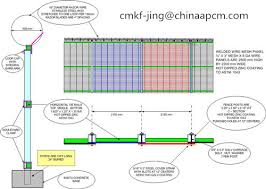 The Drawing Of Anti Climb Fence Installation Including Prison High Security Anti Climb Fence High Quality Made In