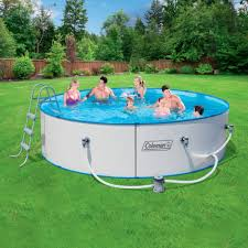 Round Swimming Pools For Sale At Walmart With Grey Ladder