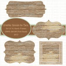 Rustic Wood Frames Clip Art For Personal And Commercial Use You Will Receive 4 Images Pictured A Transparent Background