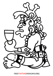 Aztec Face Tattoo Bird Warrior