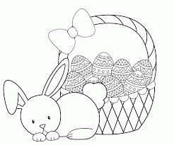 Easter Basket Coloring Pages Printable Egg Colouring