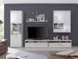 wohnwand travis 23 weiß hochglanz 5 teilig medienwand tv möbel tv wand