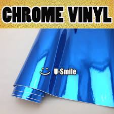 DARK BLUE CHROME Vinyl Roll Sticker Dark Chrome Blue Sheet Air Bubble Free For Car