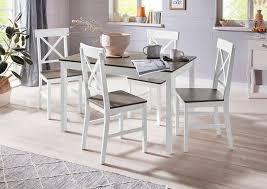 homexperts essgruppe milow set 5 tlg aus massivholz bestehend aus esstisch breite 118 cm und 4 stühlen kaufen otto