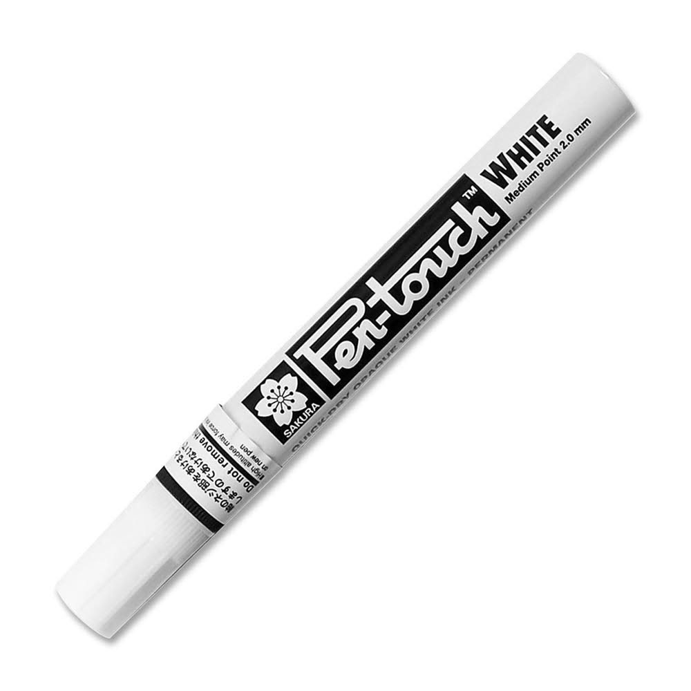 Sakura Pen-Touch Paint Marker - Medium Tip, White