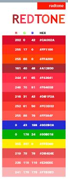 Red Tone Color Scheme Web Colors