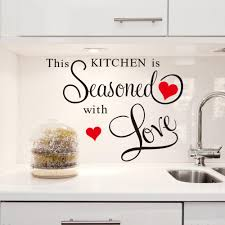 Red Heart Large Quote Wall Stickers Kitchen Decor Home Letter Decoration Removable Vinyl Decals Art Decorative Quotes In From