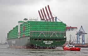 100 Living In Container File Ship Ever In The Port Of Hamburg In