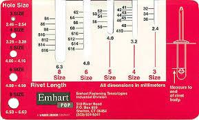 how to measure a rivet irvan smith inc