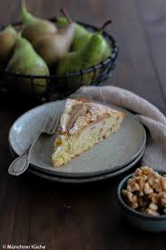 saftiger birnenkuchen mit walnüssen münchner küche