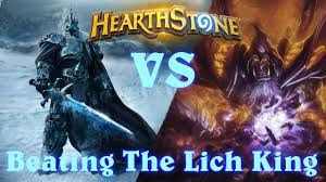 hearthstone beating the lich king with warlock and unlocking