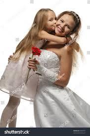 beautiful bride girl white dress stock photo 63893731