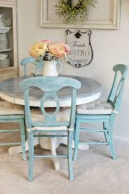 Shabby Chic Dining Room Table And Chairs by Kitchen Table Spray Painting Old Furniture How To Redo A Kitchen