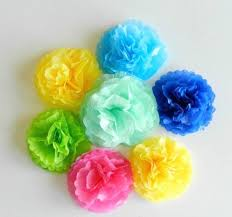 Simple Spring Tissue Paper Flowers