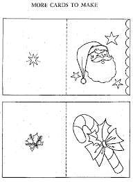 Christmas Cards For Coloring By Adults And Children A6 Size Color Your Own Card