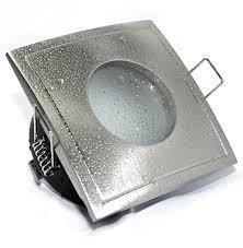 feuchtraum badezimmer downlights einbaustrahler aqua square ip65 230v gu10